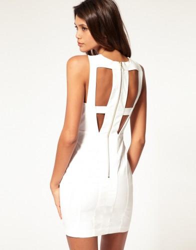Dress with Mesh Insert